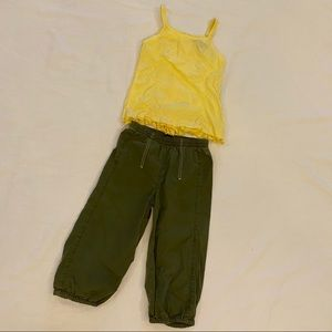 JEANBOURGET Girls Set Tank & Pants Size 4 Yrs